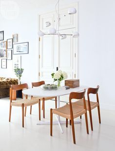 Loft tour: Bright white dining space {PHOTO: ASHLEY CAPP}