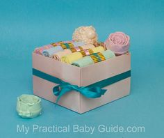 This is a presentation of the #Baby #Washcloths #Gift #box, the perfect #gift for the #mom #to #be. Practical,inexpensive and elegant #baby #shower #gift.