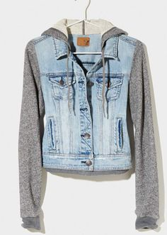 Super cute half jean jacket from American eagle