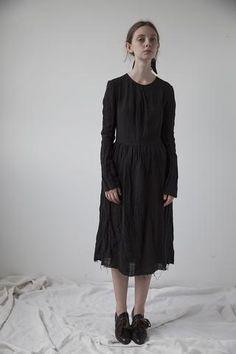 Mathilde Long Sleeve Washed Linen Dress