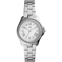 Montre pour femme : Fossil Womens AM4576 Cecile Small Three Hand Stainless Steel Watch  SilverTone