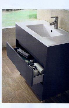 Conjunto de mueble más lavabo marca Salgar,Conjunto suspendido, fabricado con tablero de DM de alta calidad- con dos cajones con sistema de freno amortiguado...