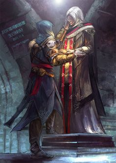 Assassin's Creed Revelations Ezio & Altair IN THE END by sunsetagain on Assains Creed, All Assassin's Creed, Assassin's Creed Brotherhood, Assassins Creed 2, Connor Kenway, Assassin's Creed Wallpaper, Fantasy Warrior, Artworks, Gaming