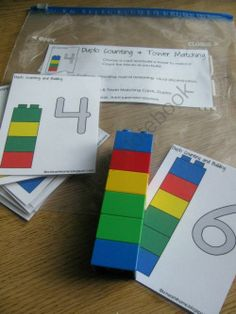 Lego number and color pattern matching
