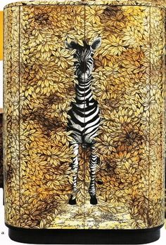 fornasetti small curved cabinet zebra