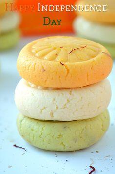 Tiranga Milk Peda Recipe - A Chewy and Yummy Milk Peda Prepared with Ricotta cheese, milk powder and sugar.