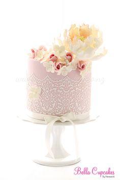 Rose, flower  damask mini cakes
