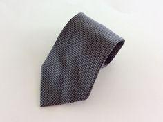 Van Heusen Neck Tie Black Gray Geometric 100% Silk #VanHeusen #NeckTie