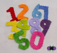 These numbers were made to go with the Birthday Party Hat pattern. Of course, they can be used for any project! Granny Square Crochet Pattern, Crochet Motif, Crochet Hooks, Crochet Appliques, Crochet Alphabet, Crochet Letters, Crochet Numbers, Crochet Eyes, Birthday Party Hats