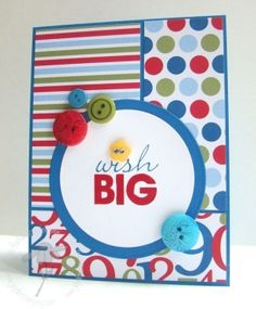 bright, colorful card by jeri