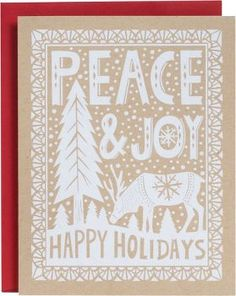 Peace & Joy Papercut White A2 Holiday Cards // $17.95 for 10