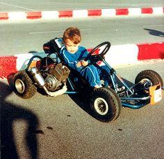 Fernando Alonso con su primer kart