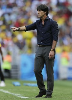 Germany's head coach Joachim Loew gestures during the group G World Cup soccer match between Germany and Ghana at the Arena Castelao in Fort...