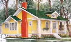 Aladdin was another kit home company, but they were actually bigger than Sears. Sears stopped selling kit homes in 1940, but Aladdin continued on until 1981. Sears sold about 70,000 homes and Aladdin (based in Bay City, Michigan) sold more than 75,000. The Aladdin Sunshine (shown above) was a fairly popular house for Aladdin.