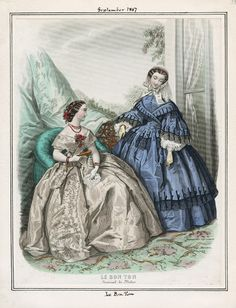 In the Swan's Shadow Le Bon Ton, September 1857. LAPL Visual Collections. - See…