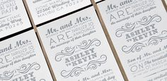 Elegant Letterpress Wedding Invitations - If you are about to get married and are looking for creative wedding invitations this article is spot on :) .