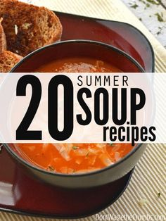 Need some inspiration to put that new immersion blender to good use? How about this list of 20  real food summer soups!  They're affordable, seasonal, and incredibly easy to put together. Quick and easy homemade soups that are nice, light and satisfying and just packed with the flavor and brightness of summer. #summerrecipe #summersouprecipes #summersoups #slowcookersoup #instantpotsouprecipes #freezercrockpotmeals #budgetmealplanning #summersouprecipeshealthy #summersouprecipesvegetarian… Whole Food Recipes, Cooking Recipes, Healthy Recipes, Healthy Soups, Lunch Recipes, Healthy Snacks, Dinner Recipes, Easy Homemade Soups, Summer Soup Recipes