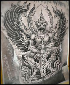 Neo Thai  Thai tattoo  พญาครุฑ Jack manop Line ID:jack010829 Release tattoo studio