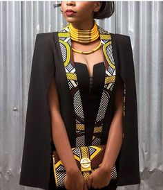 From Cape Dress To Cloak Dress; A Fashion That Will Rock African Fashion Lovers In 2016 - Women's style: Patterns of sustainability African Inspired Fashion, African Print Fashion, Africa Fashion, Fashion Prints, Modern African Fashion, African Print Dresses, African Fashion Dresses, African Prints, African Clothes