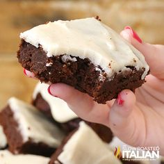 SERVES 16  |  ACTIVE TIME 5 Min  |  TOTAL TIME 25 Min     1/2 cup unsalted butter 1 cup granulated sugar 1/2 cup unsweetened cocoa powder, ...