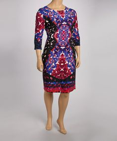Another great find on #zulily! Purple & Fuchsia Graphic Dress - Plus by Glamour #zulilyfinds