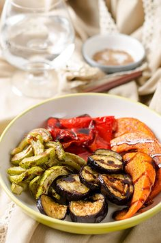 Roasted Vegetables with Balsamic Glaze | balsamico and brown sugar