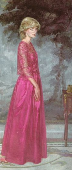 January 24, 1984: Princess Diana Portrait by June Mendoza unveiled at the Worshipful Company of Grocers, London.