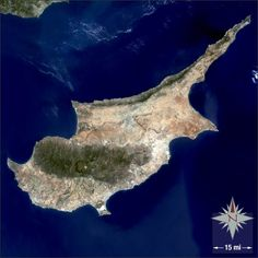 Image of Cyprus Island from the #Landsat satellite. #NASA