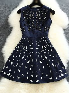 Gorgeous Beaded Sleeveless Party Dress