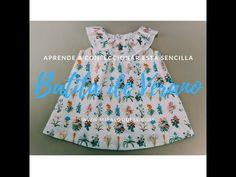 Batita de verano - YouTube Craft Tutorials, Smocking, Summer Dresses, Sewing, Knitting, Youtube, Fashion, Sewing Tips, Baby Dresses