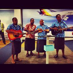 Fiji Nadi Airport Arrival Welcoming, can't wait to hear. http://www.pinterest.com/holemole21/my-perfect-wedding-in-fiji/ #fijiwedding #singmeasong