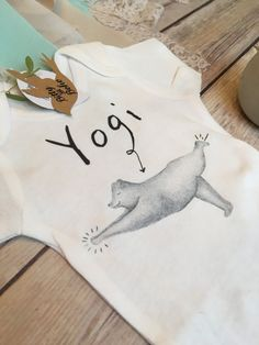 Bear Onesie® Hipster Baby Clothes Yoga Baby Bear by BittyandBoho