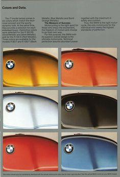 BMW 1978 Colour Chart