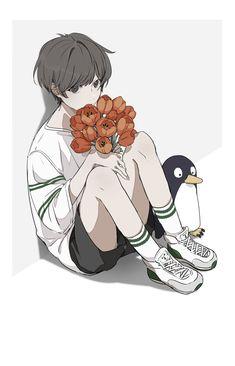 Cute Boy Drawing, Animes Emo, Anime Art Fantasy, Pretty Drawings, Anime Poses Reference, Estilo Anime, Art Poses, Cartoon Art Styles, Cute Anime Boy