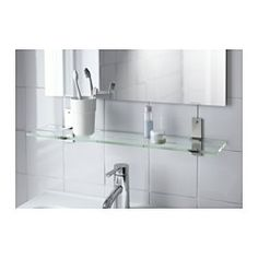 IKEA - GRUNDTAL, Glass shelf,  , 60 cm, , Tempered glass - extra resistant to heat, impact and heavy loads.