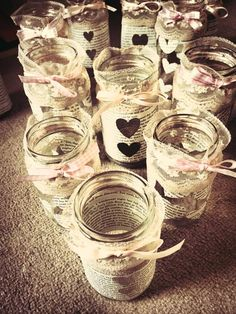 Wedding Bookpage Lanterns - Vintage - Country - Centrepieces - Shabby Chic