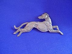 Whippet Greyhound Pin LEAPING #10D Pewter Hound Dog Jewelry by Cindy A. Conter