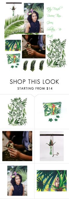 Green selection by French Riviera Etsy Team by mouna-marini on Polyvore featuring mode and Amazonia