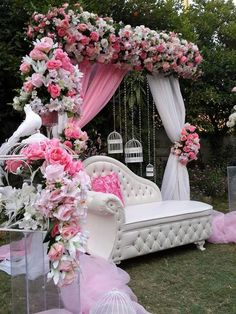 Dear 2019 Brides to be💍get in here or Tag your engaged bestie for some serious BRIDAL SHOWER Inspo💕💍🌺💐🌸 For… Desi Wedding Decor, Wedding Hall Decorations, Quinceanera Decorations, Marriage Decoration, Wedding Mandap, Backdrop Decorations, Wedding Events, Wedding Ceremony, Backdrops