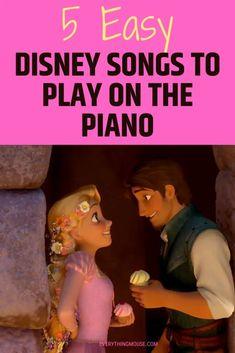 Piano Songs For Beginners, Easy Piano Songs, Kids Songs, Best Disney Songs, Disney Music, Piano Lessons, Music Lessons, Piano With Letters, Kids Piano