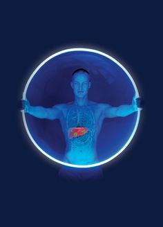 The Blue Man  Nominated for an award at the PM Society Advertising Awards. Amazing image!