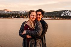 Big Bear Proposal: A quick trip to the mountains turned into an adventure of love. Sunset engagement session at Big Bear Lake. Love Is A Choice, Love My Job, Lakes In California, Proposal Photographer, Big Bear Lake, First Dates, Getting Engaged, Hanging Out, Engagement Session