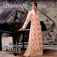 Spring Summer Dresses Bareeze Collection 2013