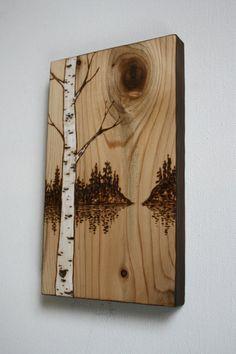 Solitude Wood Burning Art By TwigsandBlossoms On Etsy