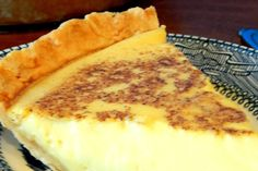 Ingredients:    1 unbaked pie shell (I use Marie Callendar's deep dish)  3 large eggs  1/2 cup of sugar  1/2 teaspoon of salt  1/2 teaspoon of nutmeg  2-2/3 cups of milk  1 teaspoon pure vanilla extract    Instructions:    Pre-heat the oven to 350 degrees. Beat your