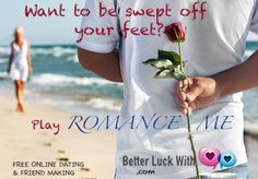 The coolest, 100% FREE new dating & friend making site! All-inclusive. Find ANYone that likes ANYthing. Play exclusive dating games...& be romanced. Join www.Betterluckwith.com #dating #love #singles # onlinedating #friends #hot #romance