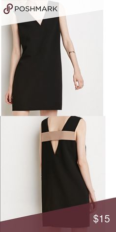 Preowned Forever 21 Cutout Black Dress Like new only wore once for dinner. Contemporary Cutout Black dress. Polyester. Conceal zipper on side Forever 21 Dresses