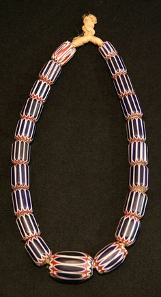 ¤ King's Necklace | Sourced in Nigeria and consists of 18th century Venetian Chevrons beads which would have been brought to Africa by European traders.