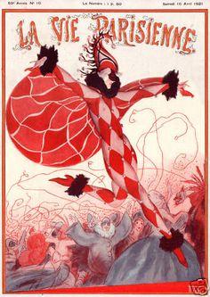 La Vie Parisienne Cover Carnival Jester Harlequin Party   eBay