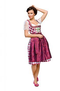 Love the sheer blouse! #dirndl #German #Austrian #traditional #folk #costume #dress #tracht